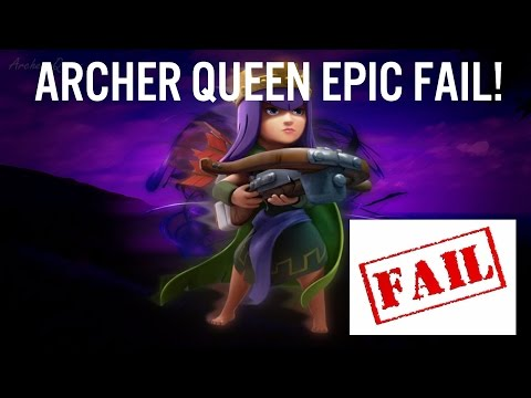 Clash Of Clans   ARCHER QUEEN EPIC FAIL!   AI GLITCH?