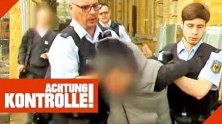 Aggro-Schwarzfahrer landet in der Zelle! Polizei greift hart durch! | Achtung Kontrolle | Kabel Eins