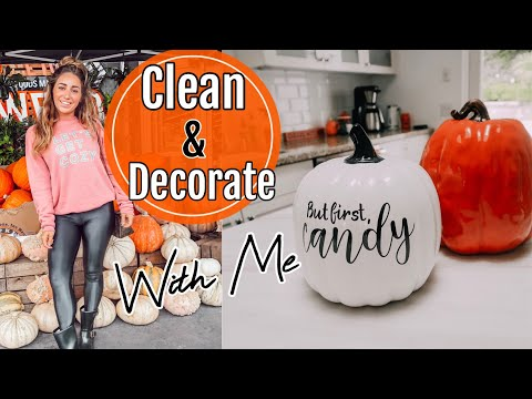 CLEAN + DECORATE WITH ME FOR FALL//OZTOBER 2019