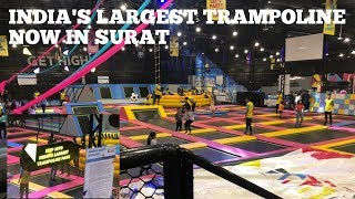 INDIA'S LARGEST TRAMPOLINE PARK😍||NOW IN GUJARAT ❤️😲surat||WOOP