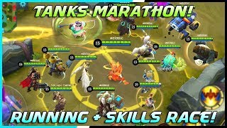 Tanks Running + Skills Race Tournament! | Mobile Legends Bang Bang | MLBB Video
