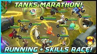 Tanks Running + Skills Race Tournament! | Mobile Legends Bang Bang | MLBB