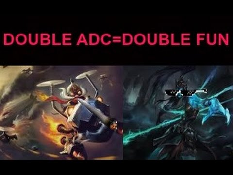 LoL-Double ADC Laning Full Gameplay Highlights - YouTube