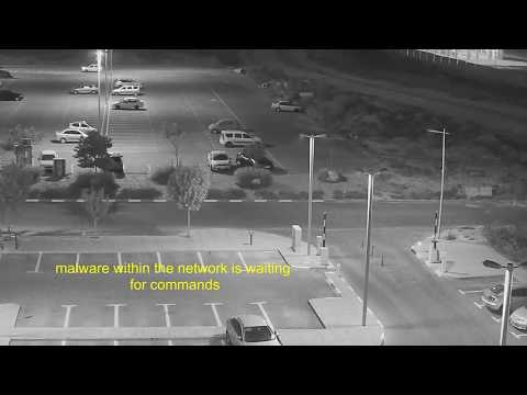 hidden communication via security cameras