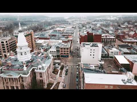 Lafayette, Indiana Courthouse   Drone Sample Footange