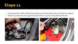TUTO remplacement huile de pompe du toit rétractable sur SLK Mercedes R170