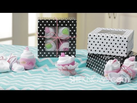 Onesie And Sock Cupcakes