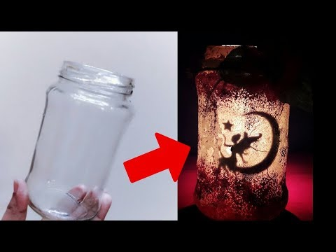 Creative ideas for glass jar | Glass jar decoration ideas | BEST OUT OF WASTE| Mason jar DIY
