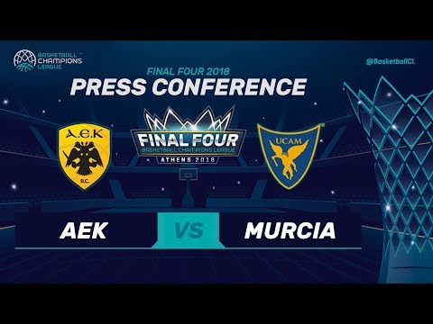Press Conference - AEK v UCAM Murcia - Basketball Champions League 2017
