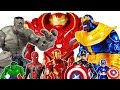 Thanos vs Hulk~!, Go Avengers~! Captain America, Iron Man, Spider Man, Hulkbuster Toys Play