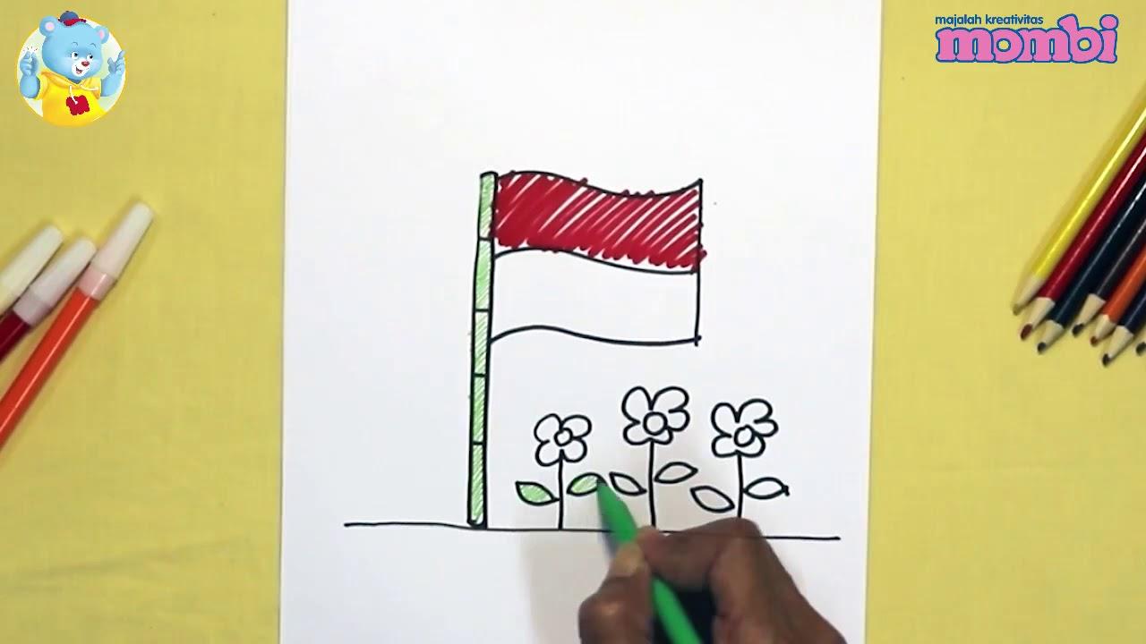 How To Draw Cara Menggambar Bendera Belajar Menggambar