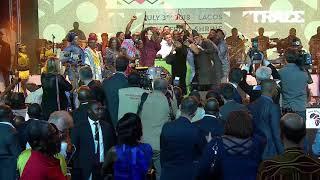 Emmanuel Macron epic Selfie with Nigerian artists