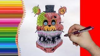 - How to draw Twisted Freddy, FNaF, Как нарисовать твистед Фредди, фнаф