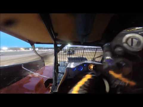 Garrison Krentz #56 Sportsman Ransomville Speedway heat race GoPro