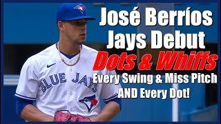 José Berrios Blue Jays Debut - Every Swing & Miss Pitch AND Every Dot! Blue Jays vs Royals 8/1/21
