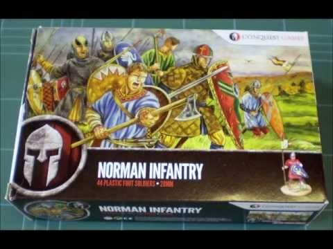 Miniature Review - 28mm Plastic Norman Infantry from Conquest Games