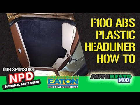 Ford F100 ABS Headliner Install Plus Cleaning Tips And Tricks Episode 336 Autorestomod