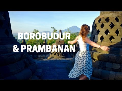 Borobudur sunrise, Prambanan Temple and travel in Yogyakarta, Indonesia