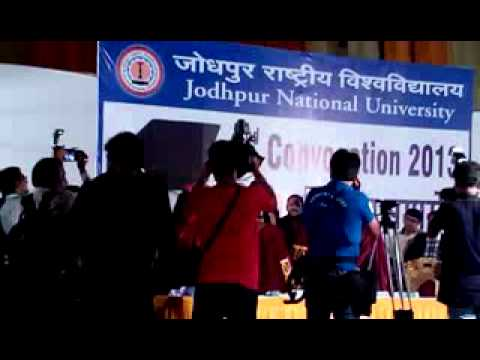 Amitabh bachchan in my  college  jodhpur national university Travel Video