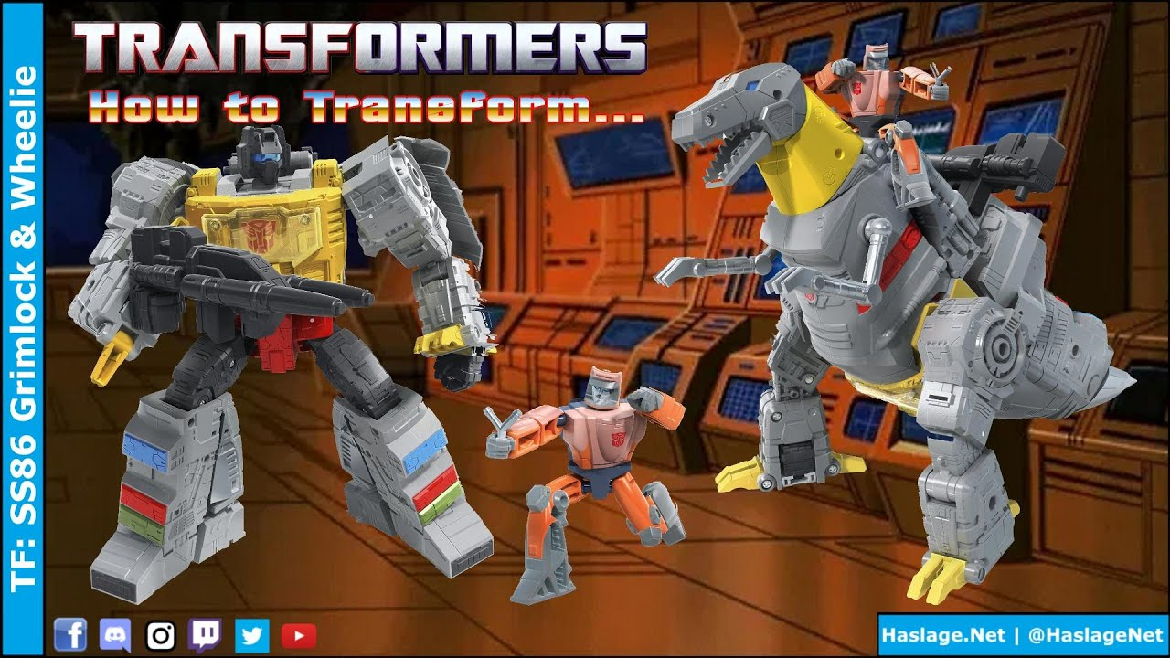 Transformers: Studio Series '86 Grimlock & Wheelie Review by HNE Games