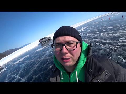 Тест-драйв Nissan на Байкале (что делать если машина проваливается под лед)