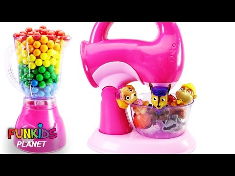 Thumbnail: Best Learning Colors for Children: Paw Patrol Skye & Chase Toy Blender and Mixer with Gumballs