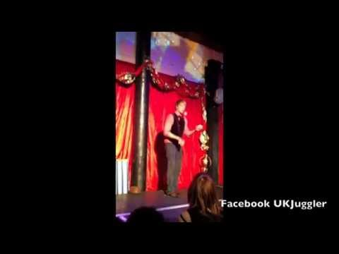 Circus Variety act in a London Cabaret by juggler Lucas Wintercrane