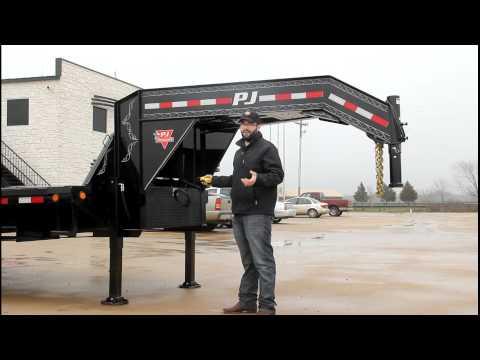 Hydraulic Jack Demo - PJ Trailers Gooseneck