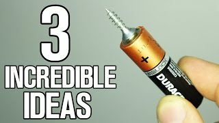 3 Incredible ideas and Life Hacks