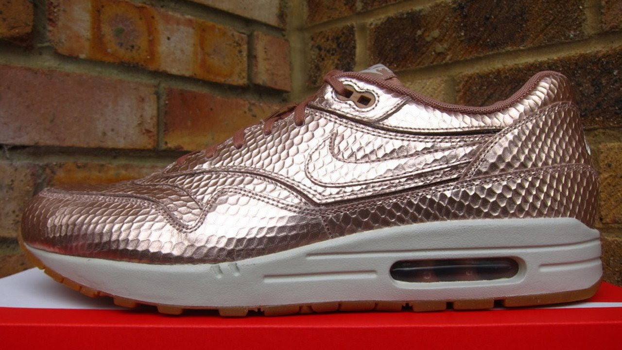 Review: WMNS Nike Air Max 1 Cut Out Bronze Snake (2014