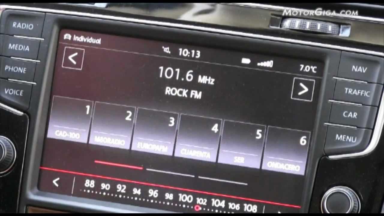 Volkswagen Golf VII, sistema infotainment