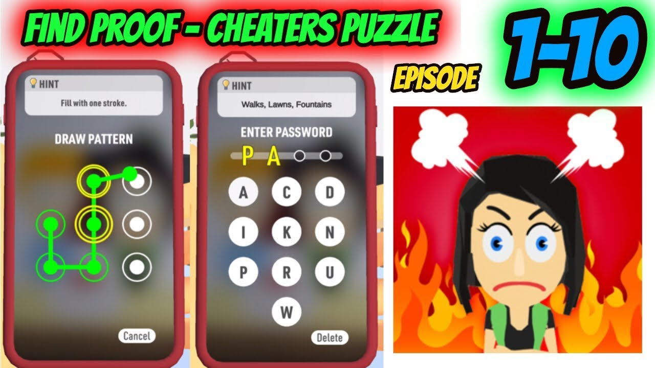 Download Find Proof - Cheaters puzzle Episode 1-10 Game Gameplay Walkthrough  | IOS |
