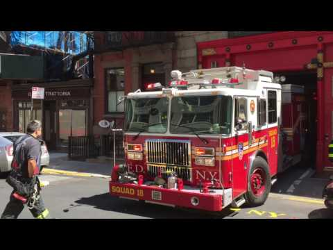 FDNY Squad 18 returning to quarters