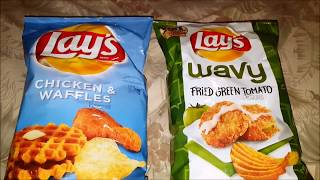 Lay's Chicken & Waffles vs Lay's Fried Green Tomatoes