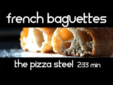 French baguettes on the Pizza Steel