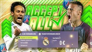 Baixar JEDES TRANSFERANGEBOT mit PARIS SAINT GERMAIN AKZEPTIEREN!! 🔥😱💰 -  FIFA 18 PSG Karriere Challenge