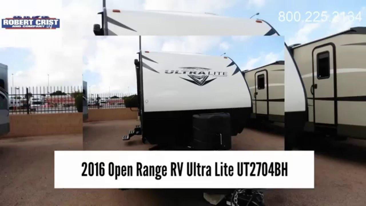 2016 Open Range Rv Ultra Lite Ut2704bh Robert Crist Amp Co