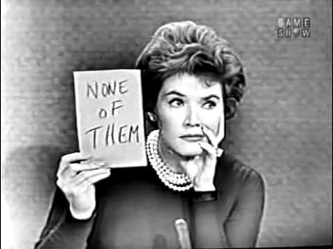 To Tell the Truth - Jack Benny's violin teacher; PANEL: Johnny Carson (Dec 12, 1960)