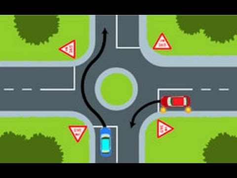 NZ Road Code Intersection Questions 123  YouTube