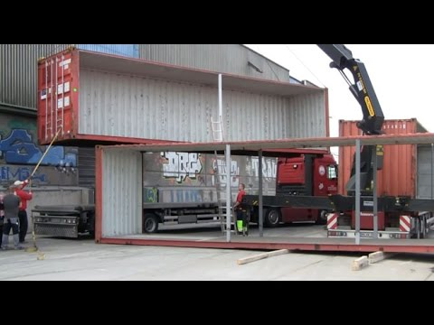MLOVE ConFestival 2015 - 1st sea containers arrival - YouTube