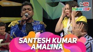 Amalina oleh Santesh Kumar buat studio RIUH! | Persembahan Live MeleTOP | Jihan Muse & Nabil