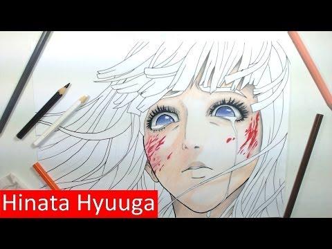 Desenhando Hinata Hyuuga - Speed Art Hyuuga Hinata - Max Art