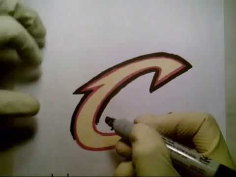 How To Draw Cleveland Cavaliers Lucky Black Jersey Logo Sign Symbol