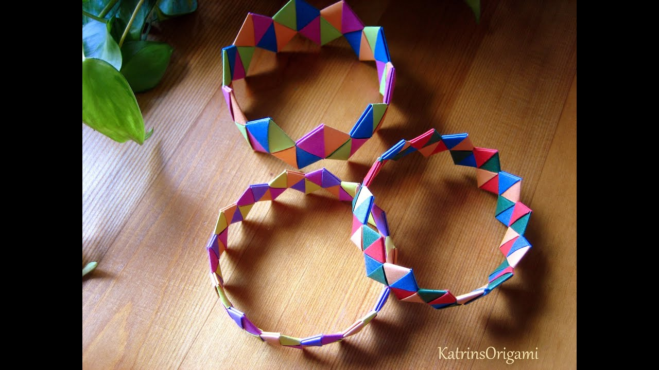 Origami ♥ Bracelet ♥ Armband - YouTube - photo#46