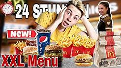 24 Stunden NEUES XXL Menu ESSEN! McDonalds CHALLENGE