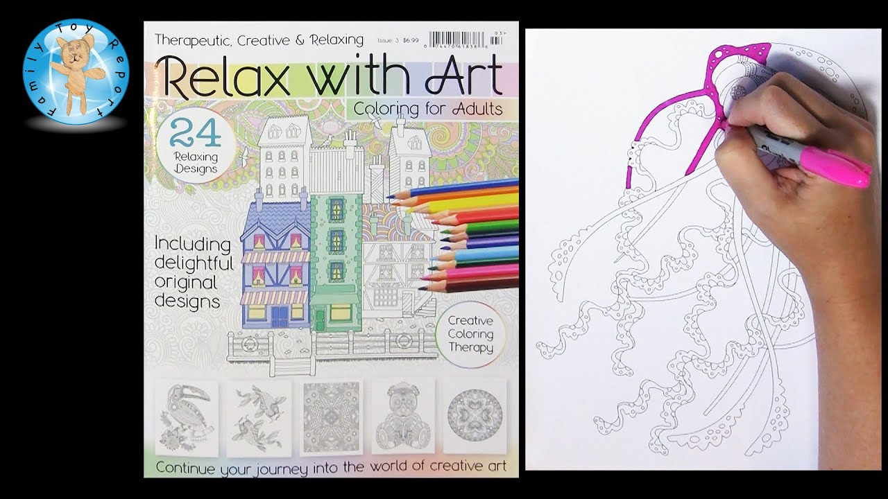 Relax With Art Calendar : Relax with art coloring for adults magazine issue jellyfish