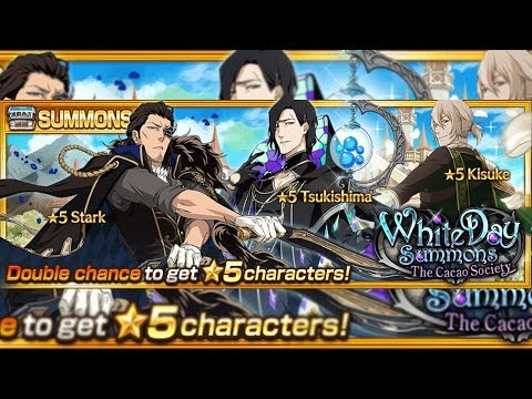 "Bleach Brave Souls: Summons ""White Day Cacao"" Stark Tsukshima e Kisuke - Omega Play"