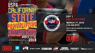 USPA California State Powerlifting Championships | Day 1 – Red Platform