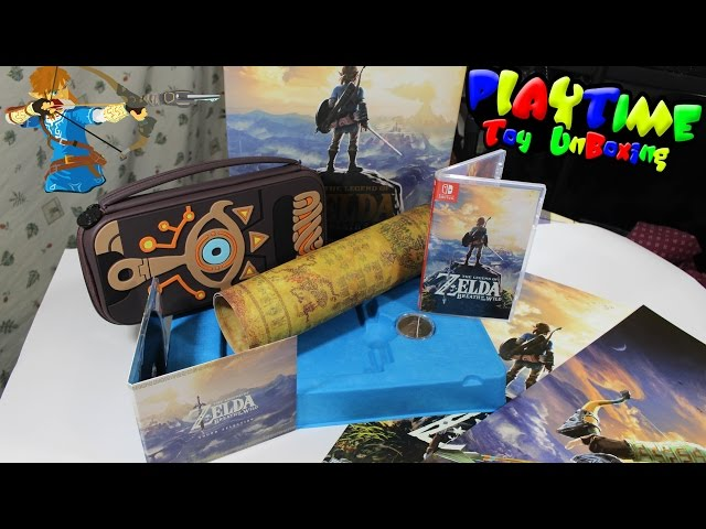 the legend of zelda breath of the wild master edition unboxing