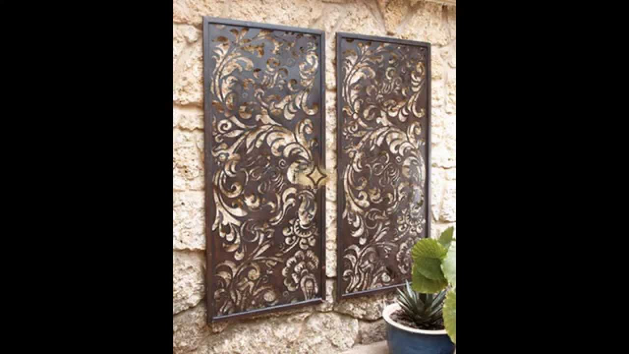 Outdoor wall decorations ideas - Home Art Design Decorations - YouTube